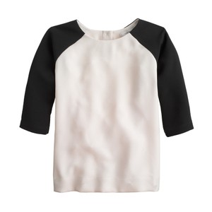 J.Crew Baseball Chic Travel Weekend Casual Top