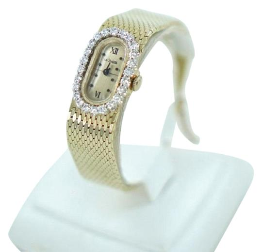 Preload https://item1.tradesy.com/images/custom-gold-and-diamond-ladies-14kt-yellow-with-bezel-120atw-watch-22499810-0-1.jpg?width=440&height=440