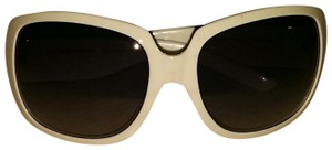 Burberry Burberry White Oversized Sunglasses