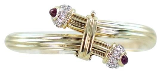 Preload https://item2.tradesy.com/images/silver-gold-14kt-yellow-diamond-and-ruby-bangle-20atw-22499871-0-1.jpg?width=440&height=440