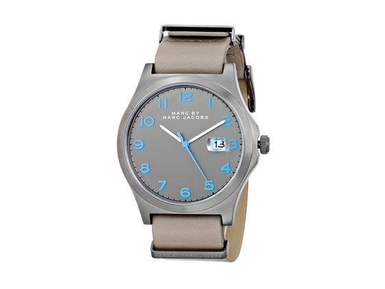 Marc by Marc Jacobs Marc by Marc Jacobs Men's Jimmy Gray Leather Strap Watch 43mm MBM5061