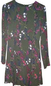 Love, Fire short dress army green floral on Tradesy