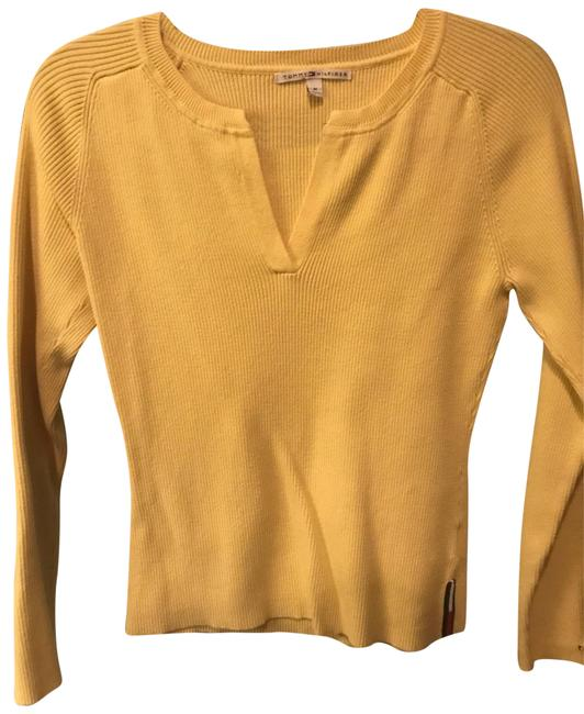 Preload https://item5.tradesy.com/images/tommy-hilfiger-yellow-women-s-sweaterpullover-size-8-m-22499979-0-1.jpg?width=400&height=650