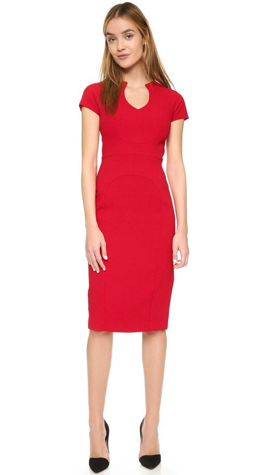 687889639284 Black Halo Sheath Date Night Office Roland Mouret Jackie Dress Image 5.  123456