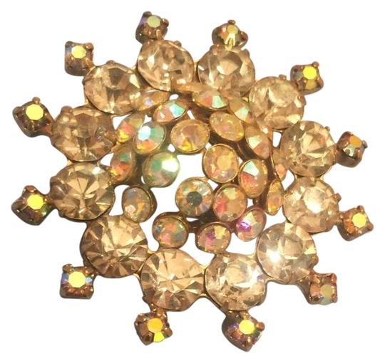 Preload https://img-static.tradesy.com/item/22500053/gold-1950-iridescent-rhinestone-pin-brooch-0-1-540-540.jpg
