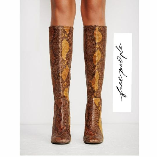 Free People Mix of Earthtones Leather Boots