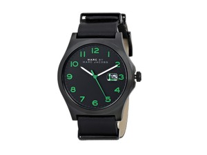Marc By Marc Jacobs Marc by Marc Jacobs Men's Jimmy Black Leather Strap Watch 43mm MBM5062