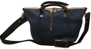 Chloé Tote in blue with black straps