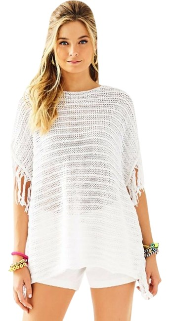 Preload https://item2.tradesy.com/images/lilly-pulitzer-white-oceania-poncho-sweaterpullover-size-8-m-22500186-0-1.jpg?width=400&height=650