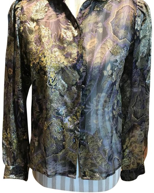 Preload https://item1.tradesy.com/images/navygold-french-metallic-blouse-size-6-s-22500215-0-1.jpg?width=400&height=650