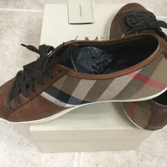 Burberry Brown with plaid trim Athletic