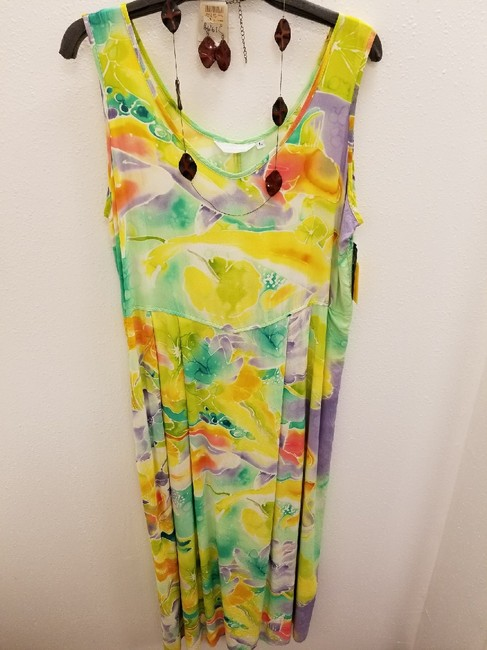 multi Maxi Dress by Jams World Rayon Scoop Back Pockets Print Maxi