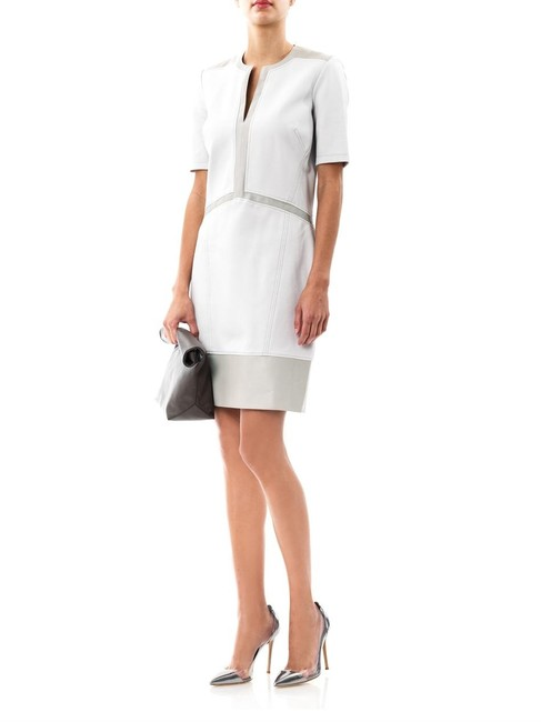 Preload https://img-static.tradesy.com/item/22500294/helmut-lang-white-motion-slash-leather-panel-mid-length-workoffice-dress-size-2-xs-0-0-650-650.jpg