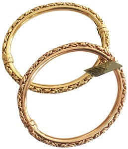Diamondsy Sterling silver Gold plated-Rose & Yellow gold bangle bracelets