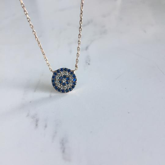 Vintage Evil Eye Gemstone Necklace