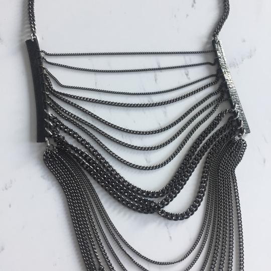 Chan Luu Layered Chain and Leather Cascade Necklace