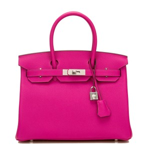Hermès Satchel in Rose Pourpre Pink