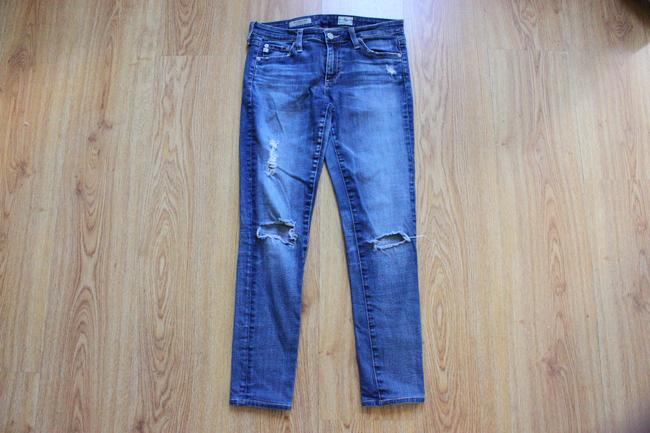 AG Adriano Goldschmied Distressed Ripped Skinny Jeans-Distressed
