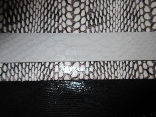 Coach Exotics Leather Leather Black / Gray / White Clutch
