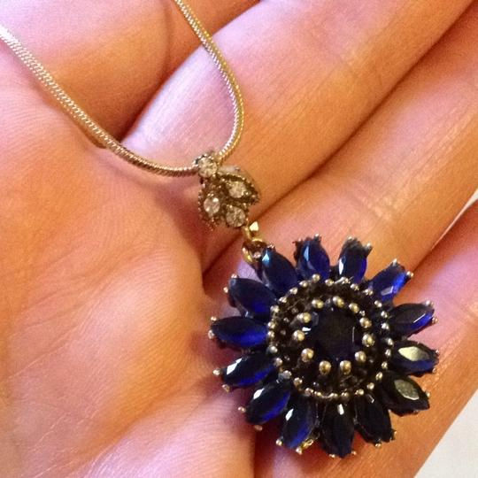 Other Blue Flower Silver Pendant