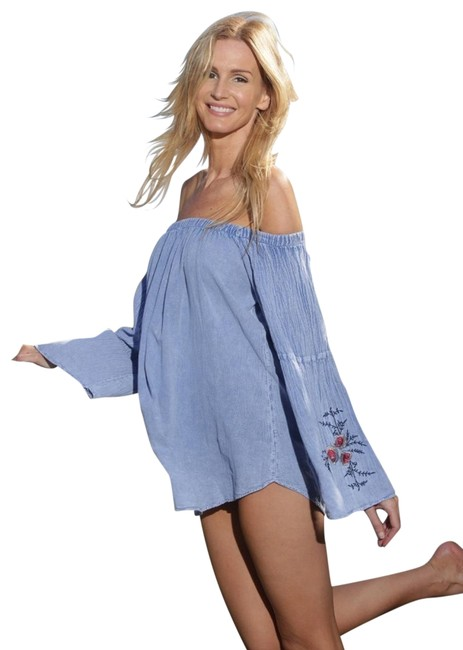 Preload https://item3.tradesy.com/images/lirome-light-blue-organic-cotton-embroidered-bell-sleeve-javi-off-shoulders-tunic-size-8-m-22500522-0-1.jpg?width=400&height=650