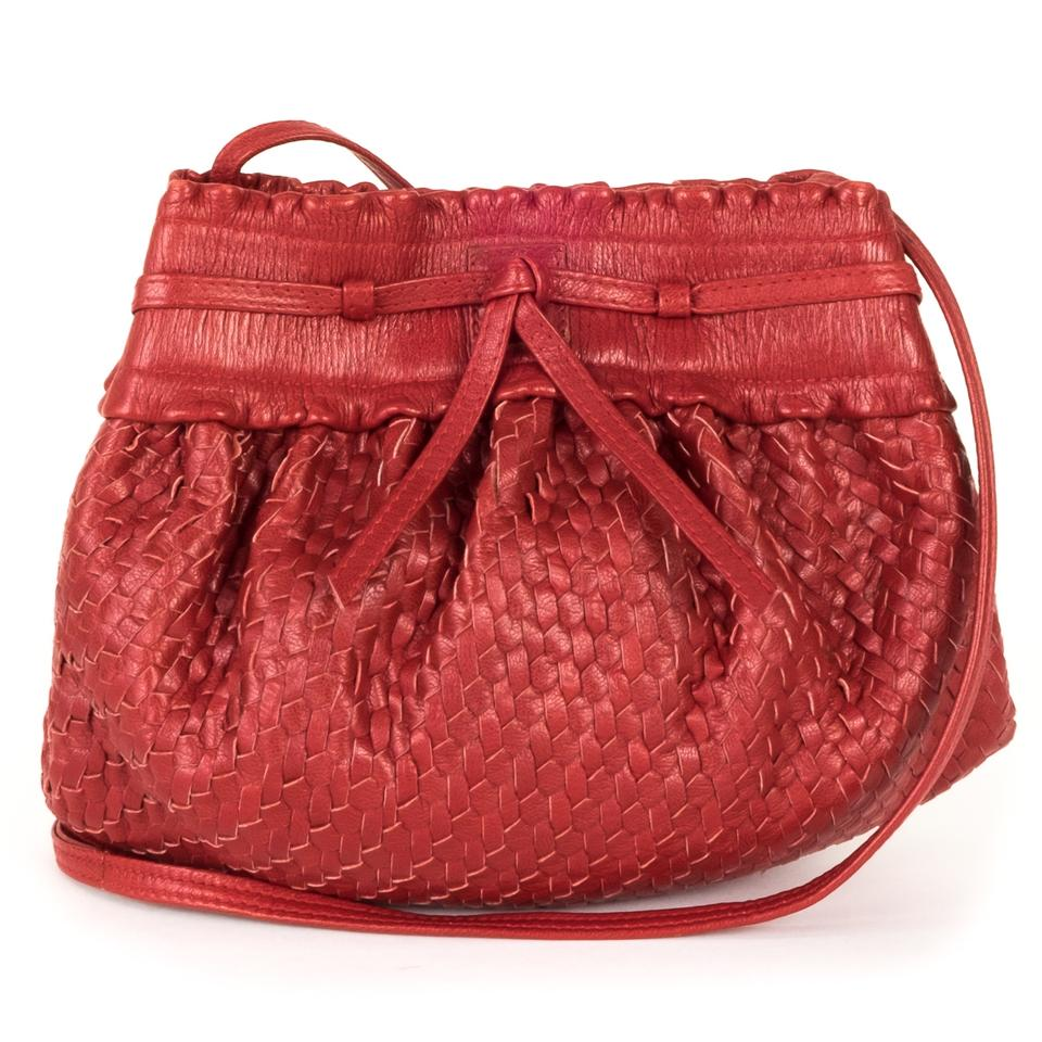 Fendi Woven Cross-body Red Leather Shoulder Bag - Tradesy 9c3232871b294