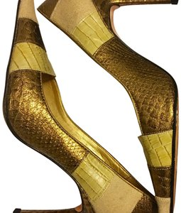 Sergio Zelcer bronze, gold, beige Pumps