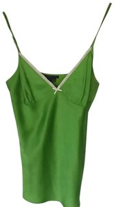 Theory Sexy Lace Shiny Camisole Top green