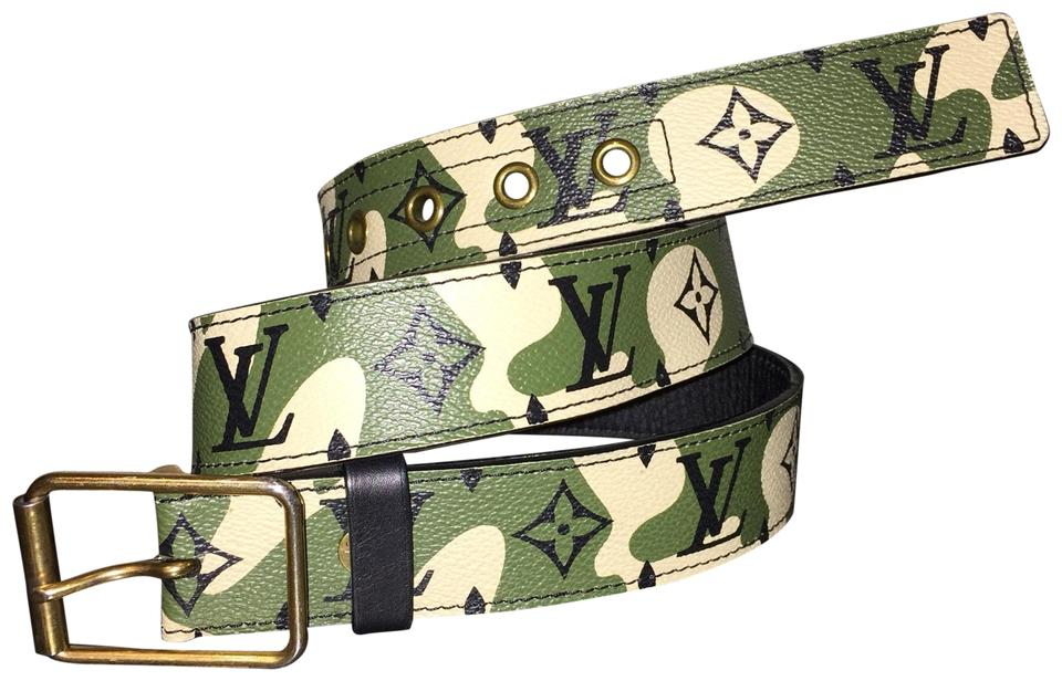 49bc1360bf4a Louis Vuitton Monogramouflage Belt ((super hard to find)) Takashi Murakami  Camouflage Limited ...