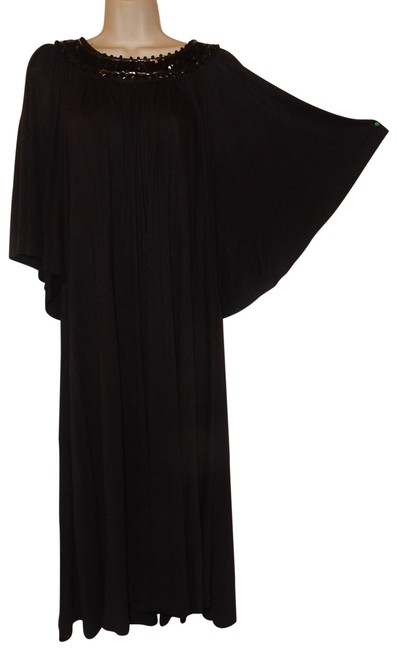 Item - Black Sequen Collor Mid-length Night Out Dress Size 14 (L)