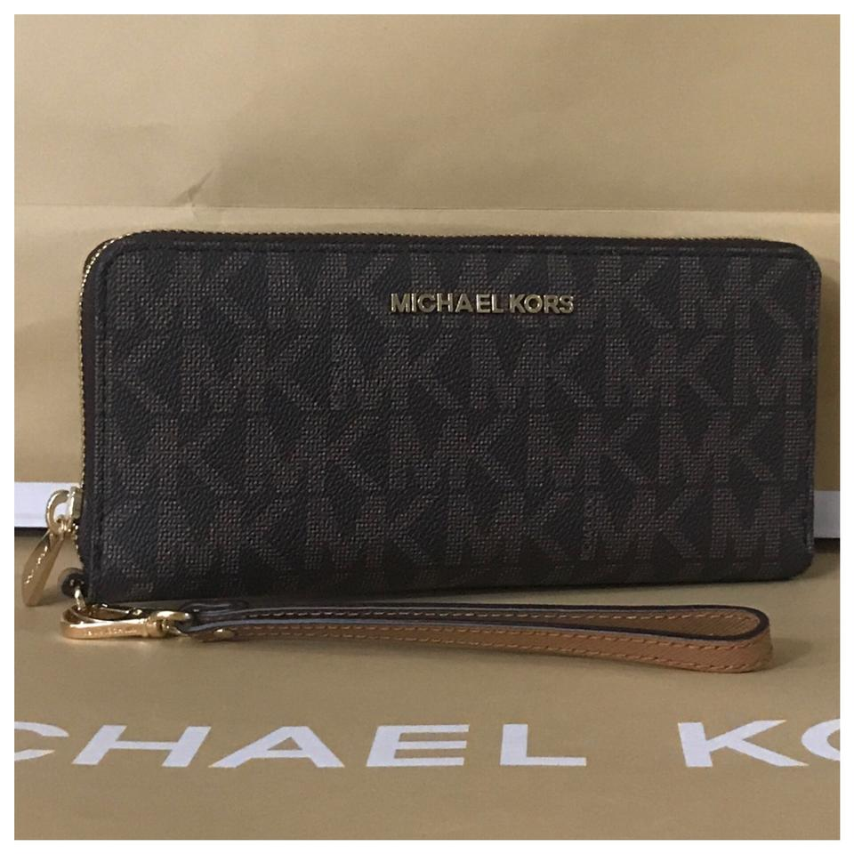 b931a11ec8a1a6 Michael Kors nwt mk Jet Set Travel Continental Wallet Image 0 ...
