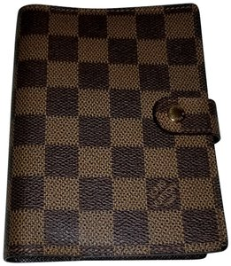 Louis Vuitton Agenda PM Damier Ebene Brown Check with inserts and ruler