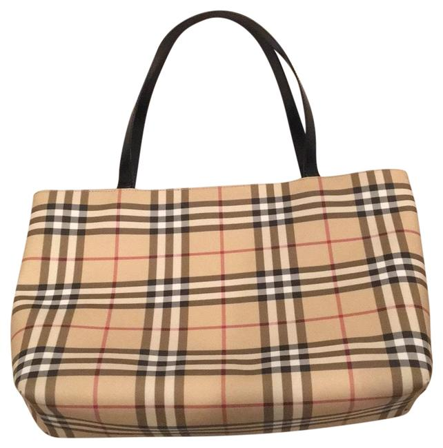 Burberry Bag Classic Nova Check & Black Coated Canvas Tote Burberry Bag Classic Nova Check & Black Coated Canvas Tote Image 1