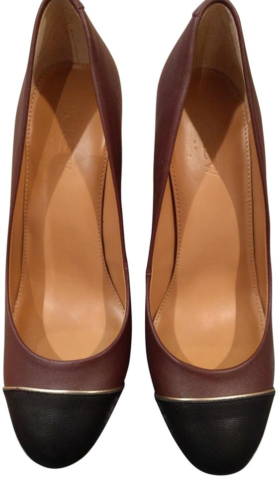 J.Crew Factory Black Cap Toe Cabernet Factory J.Crew Olive Style No. 04092 Pumps 8b273d