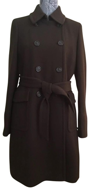 Item - Chocolate Brown Double Cloth Coat Size 6 (S)