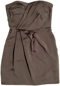 BCBGeneration Strapless Satin Pockets Dress