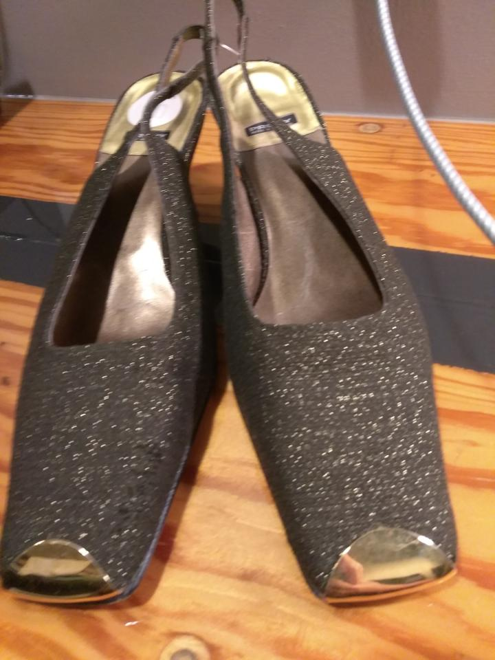 Proxy Brown Golden Made In Italy Sparkling Slingbacks