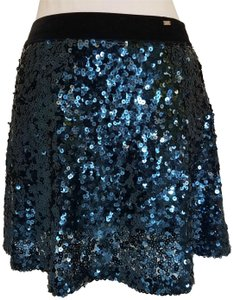 Aropostale Sequin Mini Embellished Mini Skirt Blue