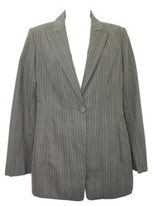 KENZO Paris Stripes Single Breasted 38 TAUPE/BROWN STRIPES Blazer