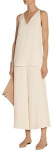 The Row Chic Summer Luxury Wide Leg Cropped Pants