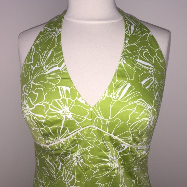 Laundry by Shelli Segal short dress Lime Green Halter Summer Floral Mini Knee Length on Tradesy