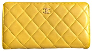 Chanel Chanel quilted Materasse Yellow Wallet