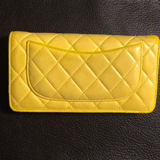 Chanel Chanel quilted Materasse Yellow Wallet Image 1