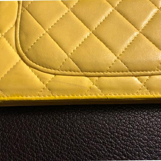 Chanel Chanel quilted Materasse Yellow Wallet Image 11
