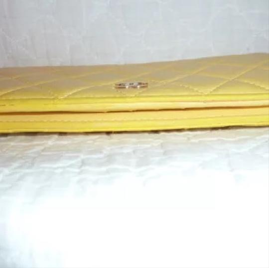 Chanel Chanel quilted Materasse Yellow Wallet Image 6