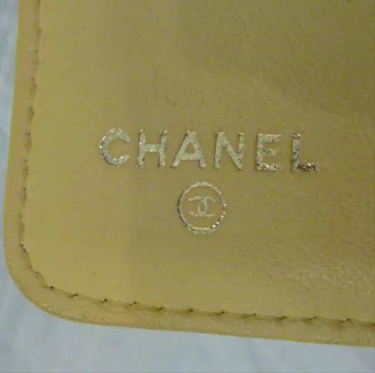 Chanel Chanel quilted Materasse Yellow Wallet Image 9