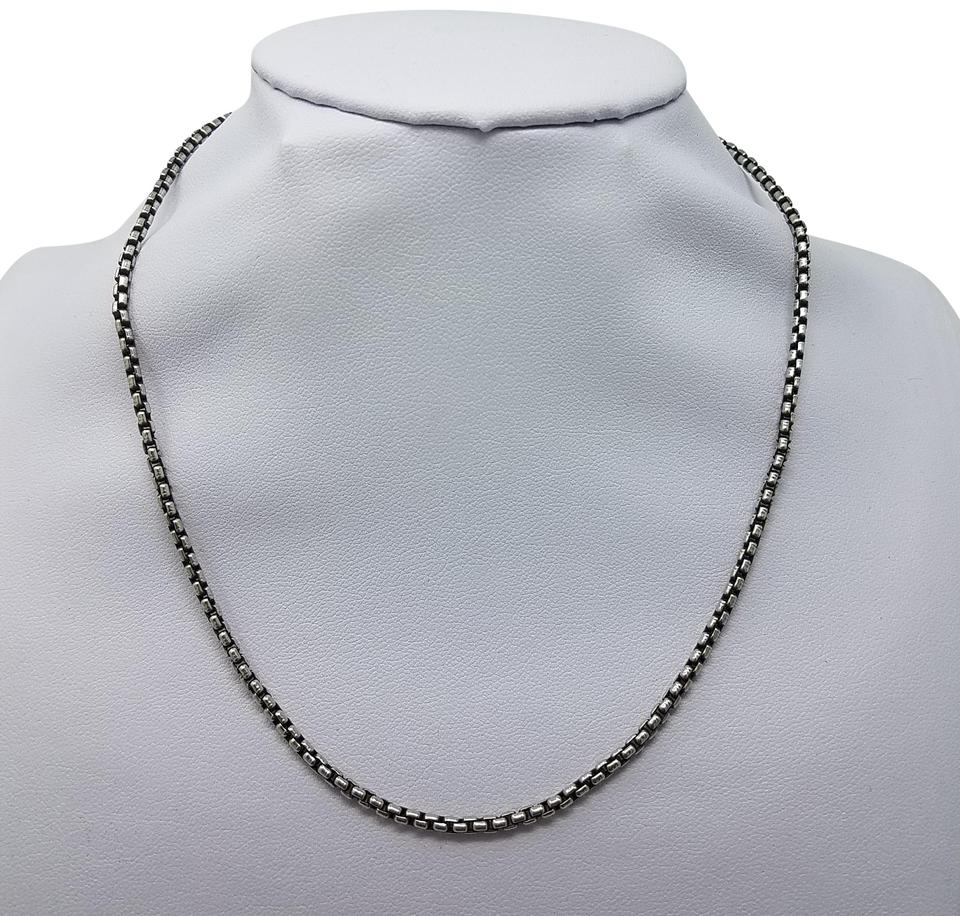 df8148248a984 David Yurman Sterling silver 14 k Gold David Yurman small box chain necklace  Image 0 ...