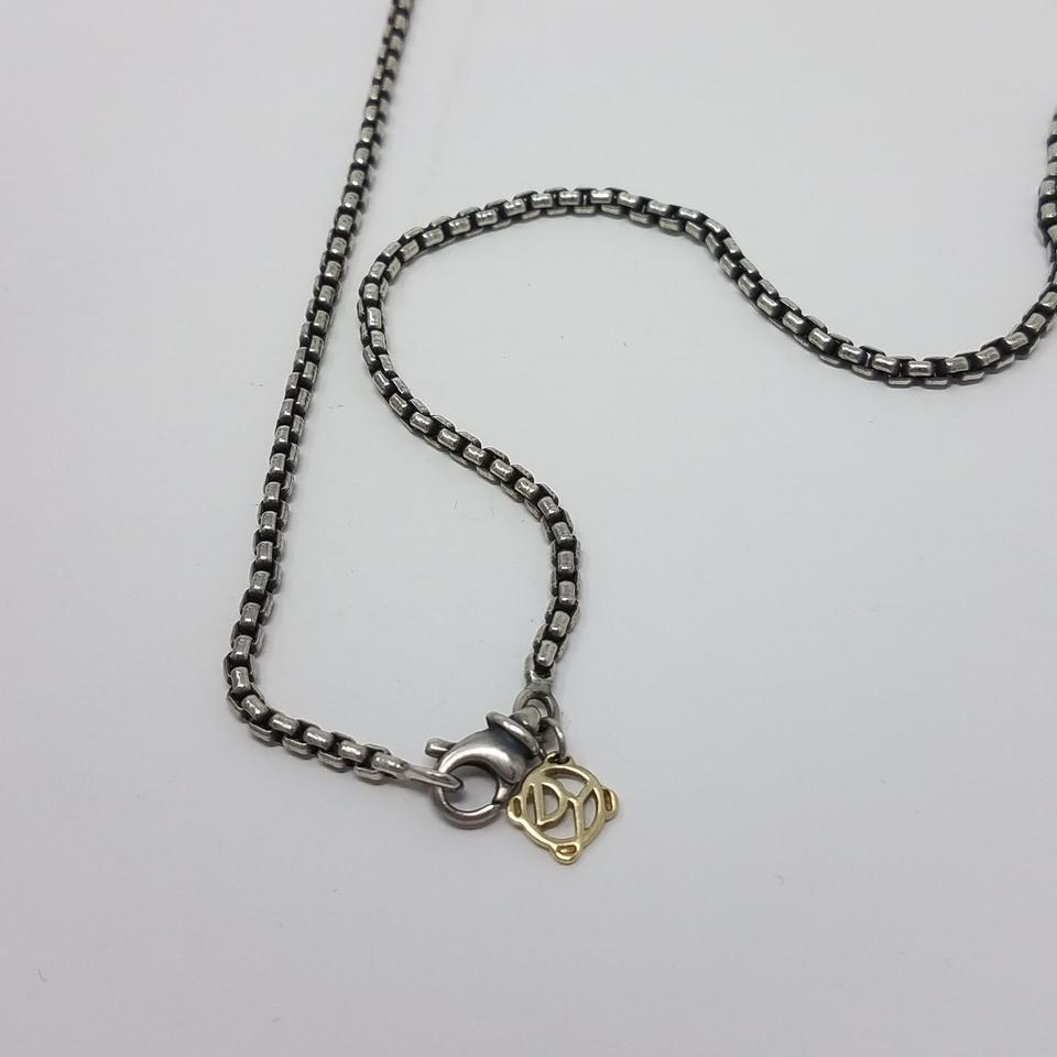 d0449bf226af3 David Yurman Silver Gold Sterling 14 K Small Box Chain Necklace ...