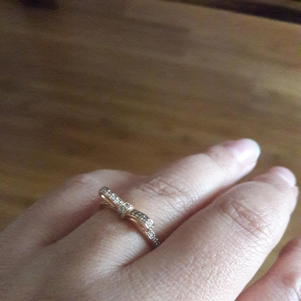 ab7641ee2 PANDORA Rose Gold Tone with Clear Cz Sparkling Bow Ring - Tradesy
