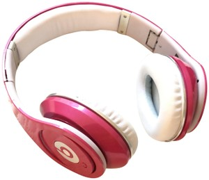 Beats By Dre Studio beats by Dre pink and white headphones